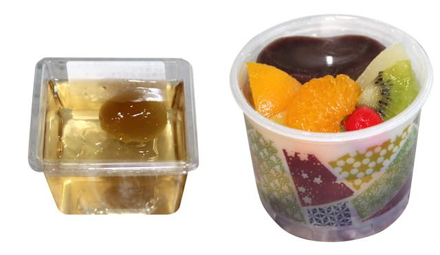 大丸 夏の涼菓「梅ゼリー」「あんみつ」