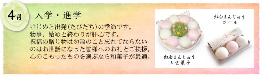 大丸:歳時のお菓子・4月・入学進学